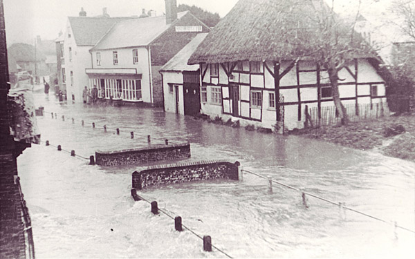 The River Meon flooding in the 1950s