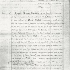 31st January 1924, Grant of Copy of Court under Copyhold Act.  'premises late in the occupation of Alfred Smith but now of C.P.Smith, together with shop adjoining ... late in possession of E.F.Merritt.