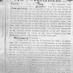 An Agreement between 1933 May, Agreement with Ecclesiastical Commissioners and Smiths - mines and minerals
