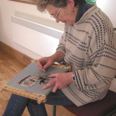 Anne Hutchings, expert embroideress.