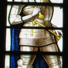 St Joan of Arc, representing France.