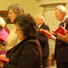 The choir comprised singers from both congregations and sang the Responsorial music as well as hymns chosen because they were familiar to both sides.