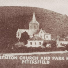 Early post card of Church and Park Hill