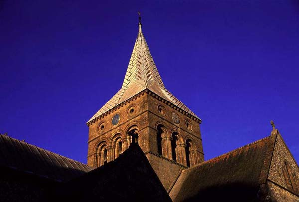 Steeple of All Saints, photographed by Chris Warren.