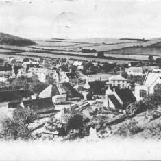 Church and village, 1900s