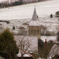 Church in frost, photographer not known
