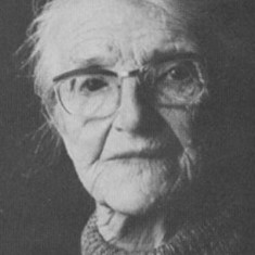 Clara Fisher, who lived in Vicarage Lodge and who was interviewed by Freddie Standfield for his book 'The History of East Meon'.