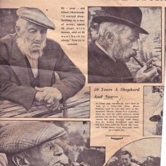Newspaper clipping which includes James Ray, John's father-in law, and Albert Whitear.