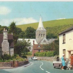 1968 Colour photo of Church Street, sent as post card to Miss K Goodrum of Swaffham.