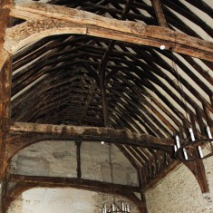 Roof Interior of the the Hall.The beams came from Durford Abbey, | Michael Blakstad