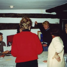 Facing, Rosemary Ryder and Susan Hull, Jane Brown. The first concept was drawn on a large sheet of paper in the dining room of The Tudor House.