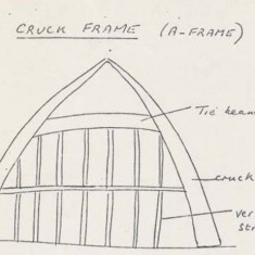 Sketch of the cruck frame.