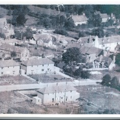 East Meon post war, The Tudor House on the extreme left.