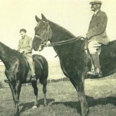 Ernest Noyce junior with father Ernest 1925