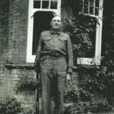 Ernest in Home Guard uniform, WWII