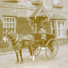 Eva Merritt (later Mrs E Noyce, 1905-6) outside Brooklyn