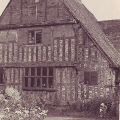 The 'north wing' of The Tudor House, with the  small window of what was then an ice room on the right.