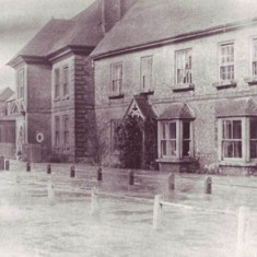 Glenthorne House, left, and its neighbour, now called Brooklyn, flooded. Date unknown.