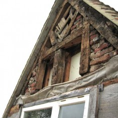 Gable stripped