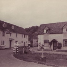 The George in the early 20th century. The original structure was probably built in the late 17th century.