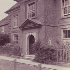 Doorway, from the east. Date unknown.