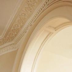 Georgian plasterwork in the entrance hall.