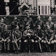 Home Guard outside old vicarage.