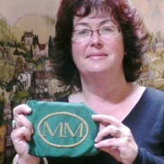 Jane Simms with the keystone Millennium oval