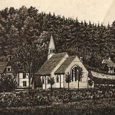 Langrish Church, from the same book of engravings as the featured image of All Saints.