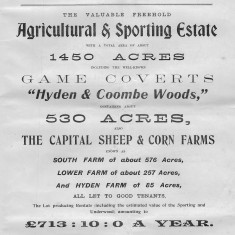 Lot 16, Agricultural and Sporting estate, Hyden and Coombe Woods