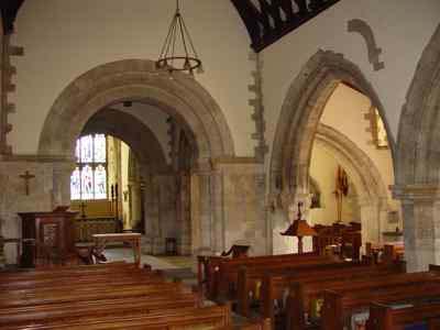 Main nave, chancel beyond