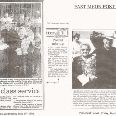 May 1992, Farewell to Edna Philips and Iris Porter