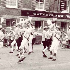 Morris Dancing outside the New Inn, 1960s