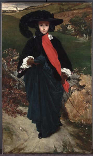 Portrait of May Sartoris, painted at Westbury by Frederick Leighton