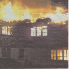 The photograph of the fire which appeared on the front page of the Petersfield Post
