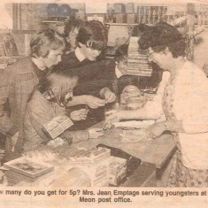 News picture of Jean with children