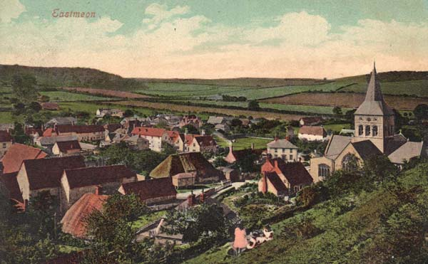 Park Hill postcard sent June 1912, showing farm buildings of what was then Court Farm.