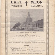 Cover of All Saints Parochial Magazine, July 1927