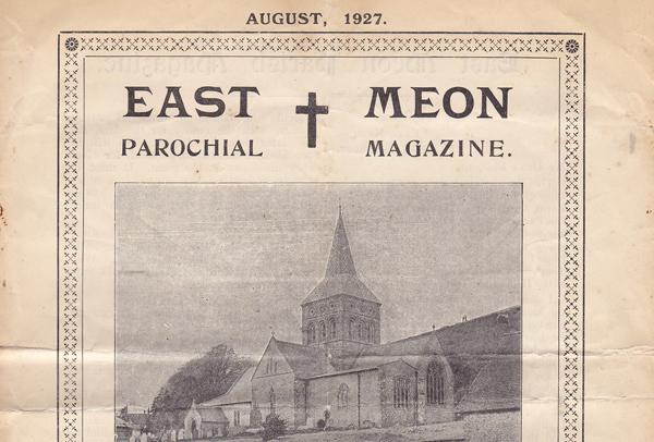 Cover of Parochial Magazine, July 1927