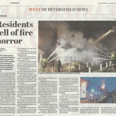 Brook and Hockley Cottages fire, 2013. Press reports.
