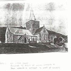 Photocopy of old PC of All Saints, no lych gate