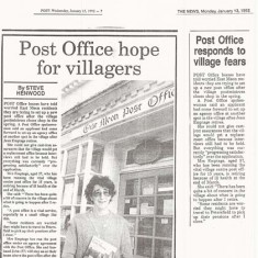 Petersfield Post reports hope for continuation of Post Office, 1992