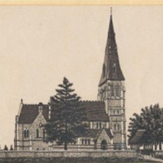 Privett Church from the same book of engravings.