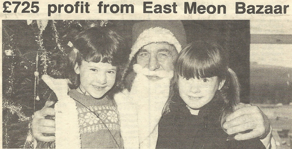 John Berry as Santa Claus, with Jemma Reynolds and Lisa Kitcher.