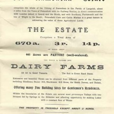 Ramsdean estate general, Dairy Farms &c. Improriate tithe rent change £190.0.1d