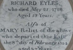Eyles family plaques