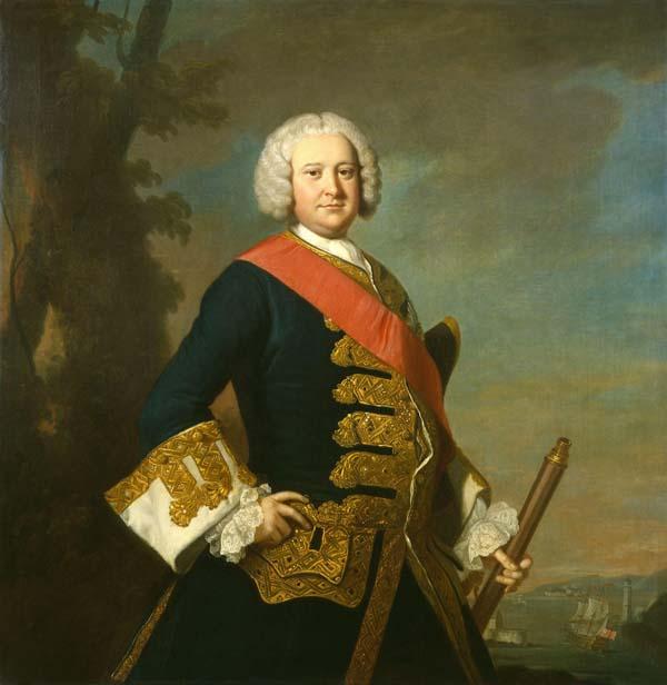 Sir Peter Warren, who built Westbury House as a Palladian mansion.