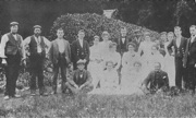 Staff of Westbury House in 1895, before the fire.