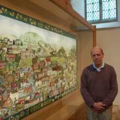 The Millennium Embroidery with Steve Lamont, who built the frame,
