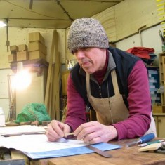 Steve Lamont lived in East Meon for thirteen years and was commissioned in 2008 to design and construct a frame for the Embroidery and a Vestry cupboard behind it.